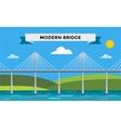 Modern bridge vector image vector image