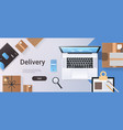 online shopping express shipping delivery service vector image
