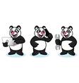 Panda Mascot with laptop vector image vector image