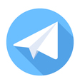Paper Plane Flat Icon vector image vector image