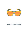 party glasses icon creative 2 colors design vector image vector image