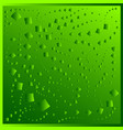 pattern from green rhombuses on a green background vector image