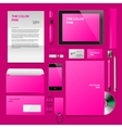 Pink Corporate ID mockup vector image