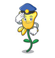 police daffodil flower character cartoon vector image vector image