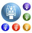 political election speech icons set vector image vector image