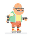 roller skate adult sports healthy grandfather vector image