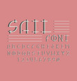 sail shadow font alphabet vector image vector image