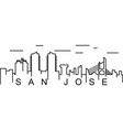 san jose outline icon can be used for web logo vector image