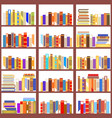 seamless bookshelf isolated pattern vintage flat vector image vector image