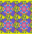 seamless fish patternfishes on violet yellow and vector image