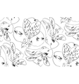 Seamless pattern alstroemeria flowers vector image vector image