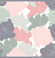 seamless pattern with line green pink grey tulip vector image vector image