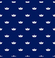 seamless pattern with white paper boats on blue vector image
