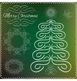 Set of vintage Cristmas calligraphic and vector image vector image