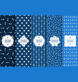 set seamless creative arrow patterns - blue vector image