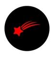 Shooting star icon vector image vector image