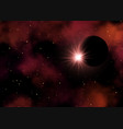 space background with planet and stars 2604 vector image vector image