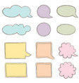 speech bubble set chat icon paper sheet for note vector image vector image