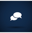 Speech bubbles sign chat icon symbol vector image vector image
