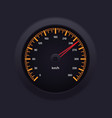 Speedometer Orange vector image