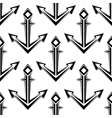 Stylized nautical anchors seamless pattern vector image vector image