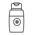 sun lotion icon outline style vector image