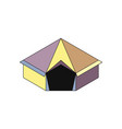tent isometry icon vector image