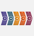 timeline arrows five positions vector image