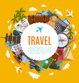 Travel tourism label with attractions vector image vector image