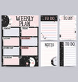 weekly and daily planner vector image vector image