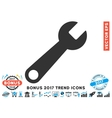 Wrench Flat Icon With 2017 Bonus Trend vector image vector image