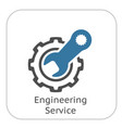 engineering service icon gear and wrench repair vector image