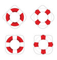 live saver red and white color set vector image