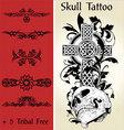 skull tattoo illustration vector image