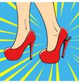 hand drawn pop art of an elegant woman shoes High vector image