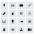 black business icons set vector image