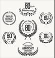 anniversary laurel wreath 80 years vector image vector image
