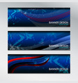 banner design wave vector image vector image
