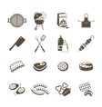 Barbecue And Grill Icons Black Set vector image vector image
