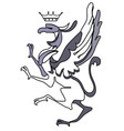 bird coat of arms vector image