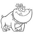 black and white angry bulldog dog vector image