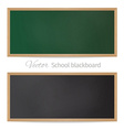 Blackboards Black and green vector image