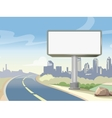 Blank advertising highway billboard and urban vector image