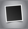 Blank retro photo frame on grey background vector image