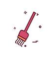 broom icon design vector image
