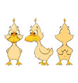 cartoon character cute duck for computer game vector image vector image