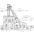 coal mine headgear tower vector image