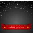 Dark Christmas background with red ribbon vector image vector image