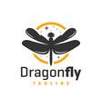 dragonfly flying animal logo vector image