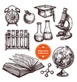 Education Hand Drawn Sketch Set vector image vector image
